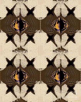 Threadbare - Abstract Material  by Gillian Owen