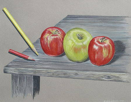 Three Apples by Gina Gahagan