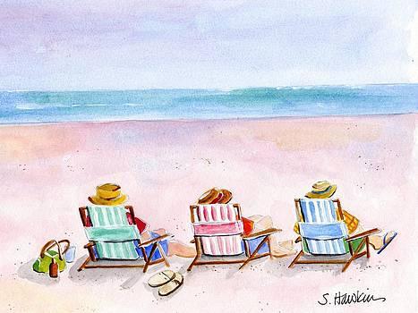 Three Beach Amigos by Sheryl Heatherly Hawkins