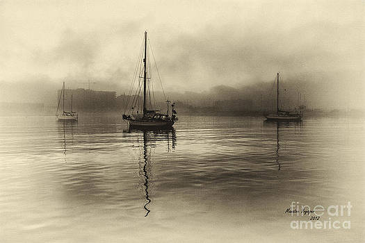 English Landscapes - Three Boats In The Fog