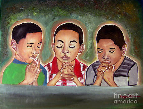 Three Boys Praying by Rory Ivey