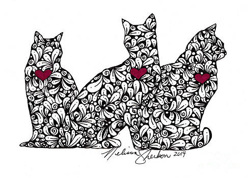 Three Cats by Melissa Sherbon