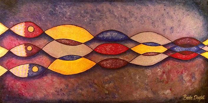 Three Fish by Beata Dagiel