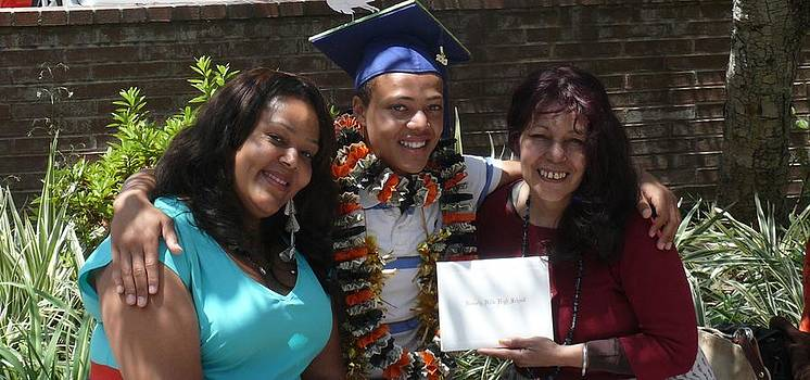 Three Generations on Graduation Day by Jacquelyn Roberts