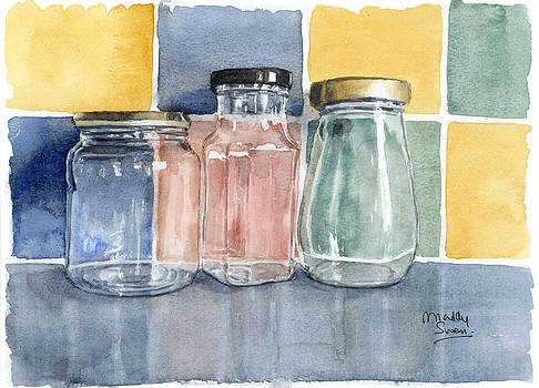 Three Glass Jars by Maddy Swan