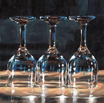 Three Glasses 2 by Christine Karron