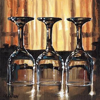 Three Glasses 3 by Christine Karron