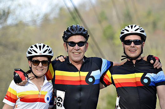 Three Gran Fondo Riders by Susan Leggett