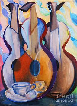 Three Guitars by Frederick  Luff