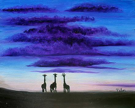 Three Jiraffes by Pilar  Martinez-Byrne