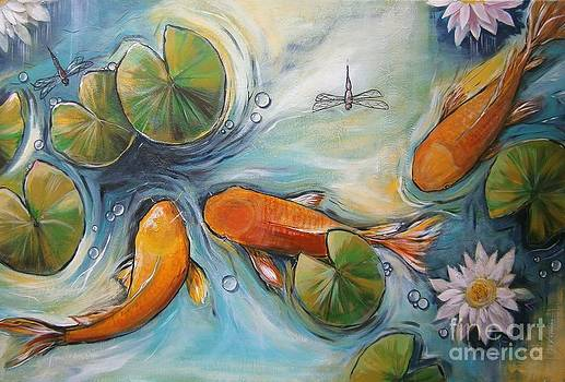 Three Koi Fishes - The Search by Soma Mandal Datta