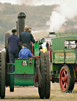 Three on a Traction Engine by Tess Baxter