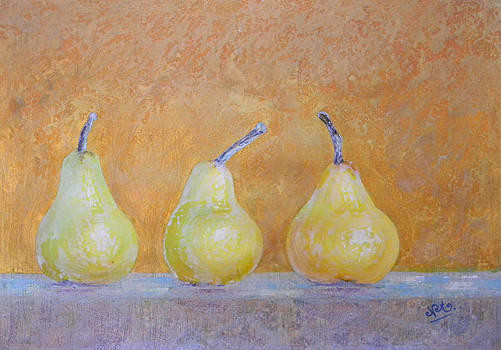 Three Pears by Adel Nemeth