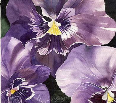Alfred Ng - three purple pansies