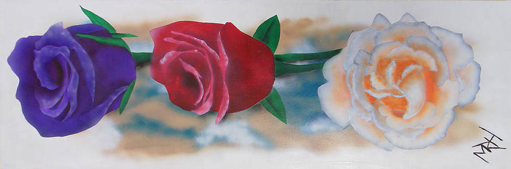 Three Roses by Michael Hall
