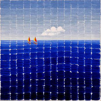 Three Sail Boats #2 by Jesse Jackson Brown