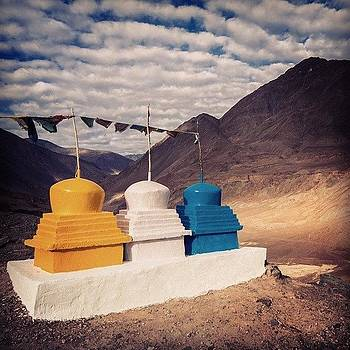 Three Stupa by Hitendra SINKAR