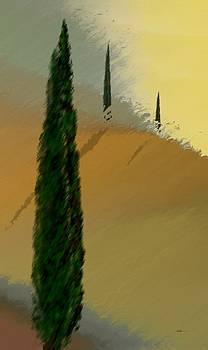 Three Tree Tuscany by Wally Boggus