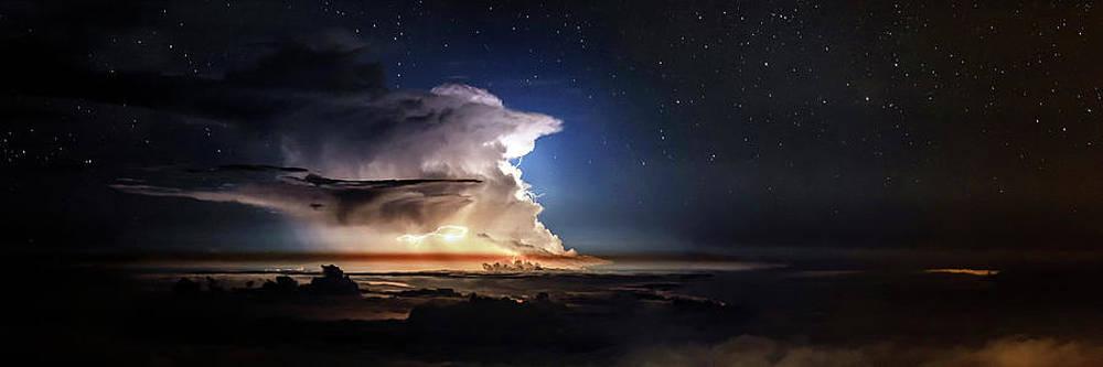 Thunderstorm Rages Against Starry by Babak Tafreshi