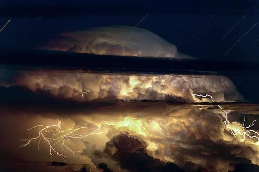 Thunderstorm Seen From Haleakala by Babak Tafreshi