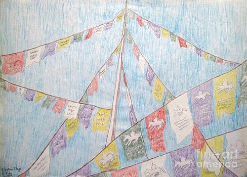 Tibetan Flags by Elizabeth Stedman