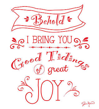 Tidings of Great Joy Red by Jan Marvin by Jan Marvin