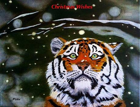 Tiger Christmas Card by Dr Pat Gehr