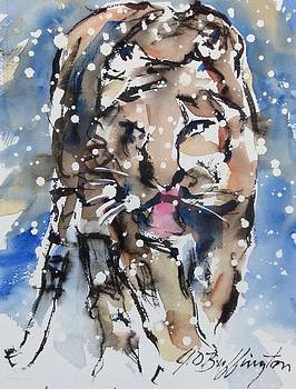 Tiger In The Snow by JULES Buffington
