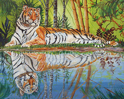 Tiger Relaxing by Sandra Wilson
