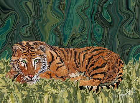 Tiger Sunday Serendipity by Sherin  Hylan