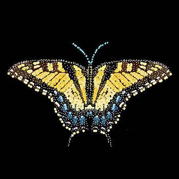 Tiger Swallowtail Butterfly Bedazzled by R  Allen Swezey