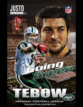 Tim Tebow Going Green by Justo Terez Jr