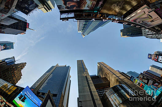 Time Square Sky View by Daniel Portalatin Photography