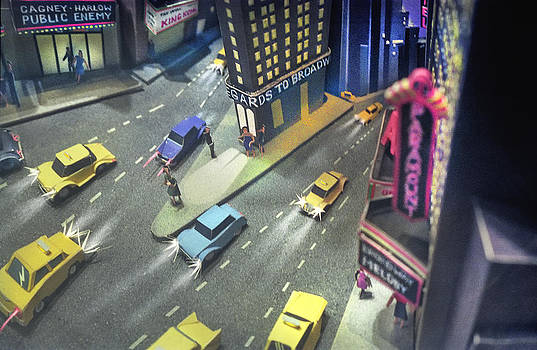 Times Sq. at night by Ron Morecraft
