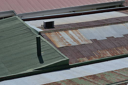 Tin Rooftops of San Jose by Bill Mock