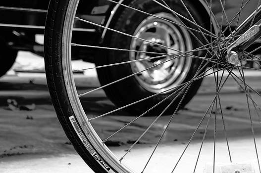 Tire In Wheel by Anthony Cummigs