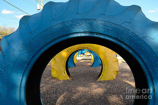 Tire Tunnel by Derry Murphy