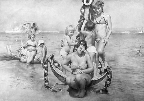 To guarantee the slipping.1987. Full drawing by Yuri Yudaev