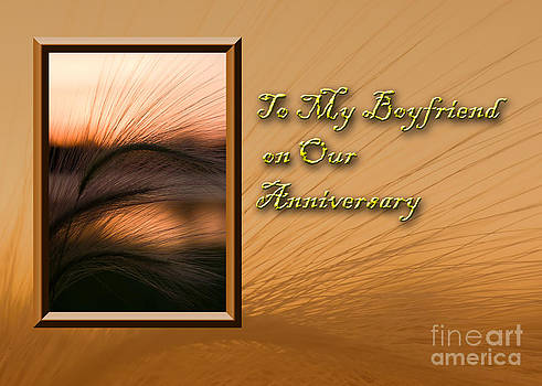 Jeanette K - To My Boyfriend on Our Anniversary Grass Sunset