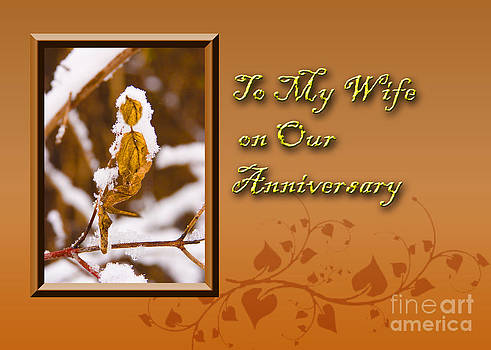 Jeanette K - To My Wife on Our Anniversary Leaf