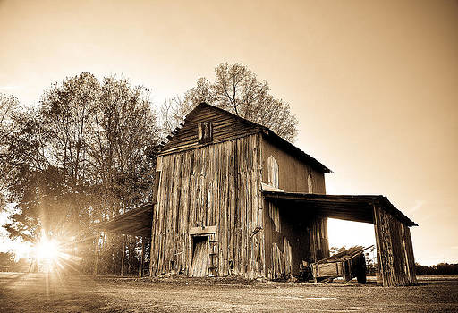 Tobacco Barn in Sunset by Andrew Crispi