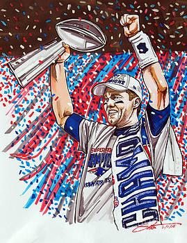 Tom Brady Superbowl XLIX MVP by Dave Olsen