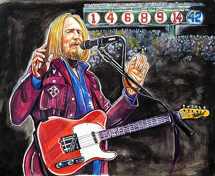 Tom Petty at Fenway Park by Dave Olsen