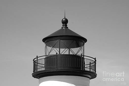 Top of Mukilteo Lighthouse B. and W. by Walter Strausser