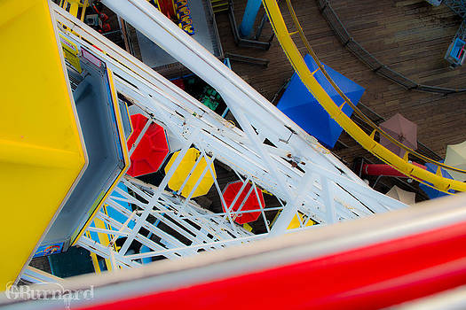 Top of the Carousel Santa Monica Pier by Guinapora Graphics