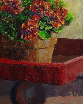 Totin' Geraniums  by Linda Riesenberg Fisler