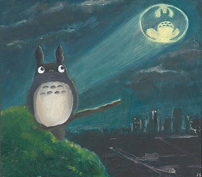 Totoro Batman and Los Angeles by Jessmyne Stephenson