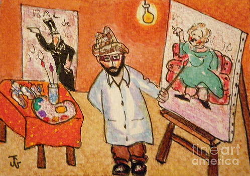 Toulouse at his Easel by Joyce Gebauer
