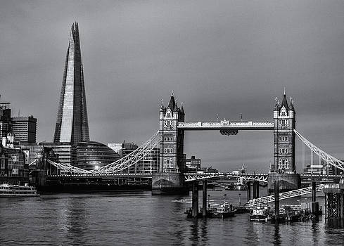Tower Bridge and The Shard by Stuart Gennery