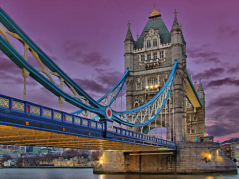 Tower Bridge From Below by Colin J Williams Photography